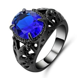 Princess Cut Blue Sapphire Plated  Ring New